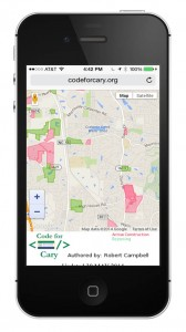 iphone-codeforcary-map