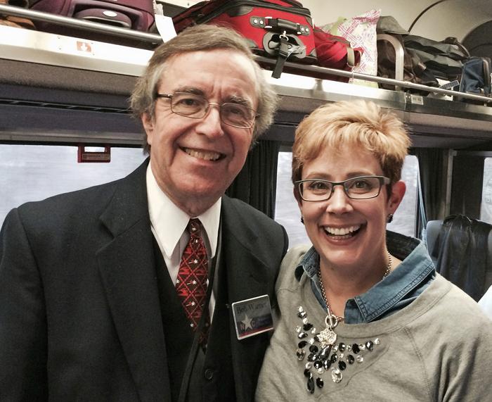 Me and Bob Warner (Train volunteer extraordinaire)